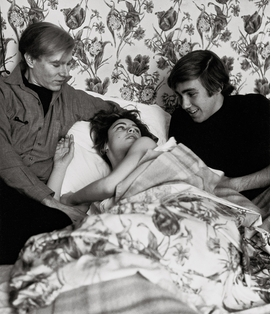 Featured image, of Andy Warhol, Edie Sedgwick and Chuck Wein, Hotel Royale Bison, Paris, May 1965, is reproduced from 'Shunk-Kender: Art Through the Eye of the Camera.'