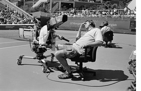 """""""Camera man,"""" Queens, New York (2012) is reproduced from 'Stephan Würth: Tennis Fan.'"""