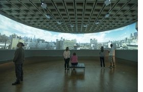 """Installation View of """"In the Air"""" (2013), The Whitney Museum of American Art, New York, is reproduced from <I>T. J. Wilcox: In the Air</I>."""