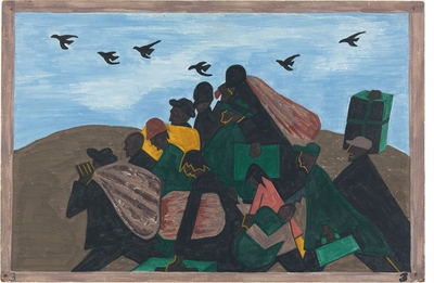 Tapping in to Jacob Lawrence's seminal series on the #GreatMigration for Black History Month 2019