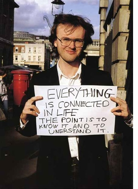 """Featured image, Gillian Wearing's """"Signs that say what you want them to say and not Signs that say what someone else wants you to say: Everything is connected in life. The point is to know it and to understand it."""" (1992–93) is reproduced from <I>The Art Life: On Creativity and Career</I>."""
