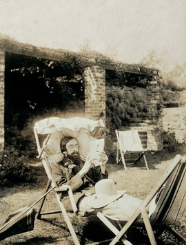 """Featured image, of Lytton Strachey in the 1920s, is reproduced from <I>The Bloomsbury Group</I>. """"A man of letters, Strachey led a sedentary existence and is often shown in a state of complete relaxation, a condition conducive to a life of intense mental activity."""""""