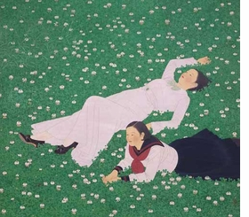 """Featured image, Tateishi Harumi's 1934 painting, """"Clover,"""" is reproduced from <I>The Brittle Decade: Visualizing Japan in the 1930s</I>."""