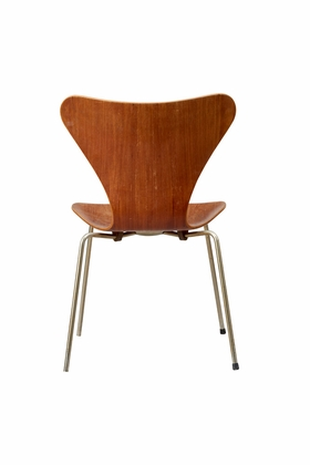 Arne Jacobsen's Series 7 Chair (1955) is reproduced from 'The Danish Chair.'