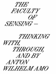 The Faculty of Sensing