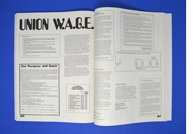 A spread on unionizing from 'The New Woman's Survival Catalog.'
