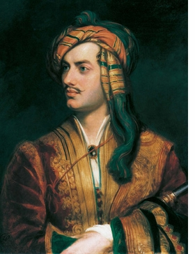 Featured image, of Thomas Phillips' c.1835 portrait of Lord Byron, is reproduced from <I>The Romantic Poets and Their Circle</I>.
