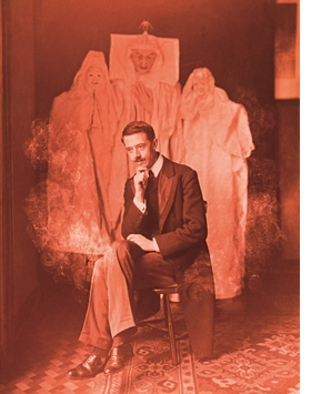 Featured image, of magician William S. Marriott and three ominous materializations (1910), is reproduced from 'The Spectacle of Illusion.'