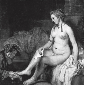 "Image above is Rembrandt's ""Bathsheba at her Bath"" (1654), reproduced from <I>The Trade of the Teacher.</I>"
