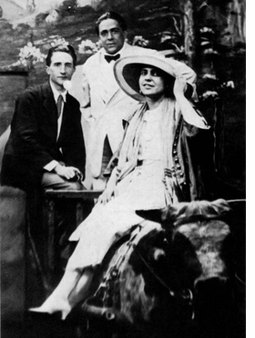"""Featured photograph, captioned: """"Marcel, Francis Picabia and me at Coney Island, June 21, 1917"""" is reproduced from <I>Three New York Dadas and The Blind Man</I>."""