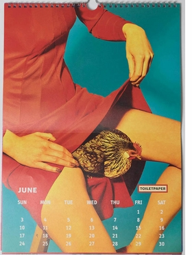 """ABOVE: June, 2018 spread from """"Toilet Paper Calendar 2018."""""""