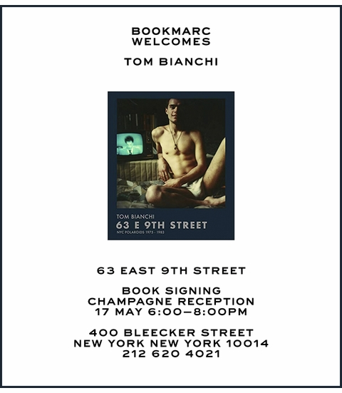Tom Bianchi to launch '63 E 9th Street' at Bookmarc