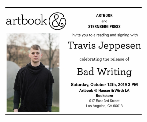 Travis Jeppesen reading and signing 'Bad Writing' at Artbook at Hauser & Wirth Bookstore, Los Angeles