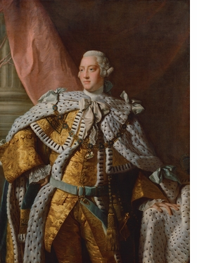"""King George III,"" studio of Allan Ramsay © National Portrait Gallery, London, is reproduced from 'Tudors to Windsors.'"