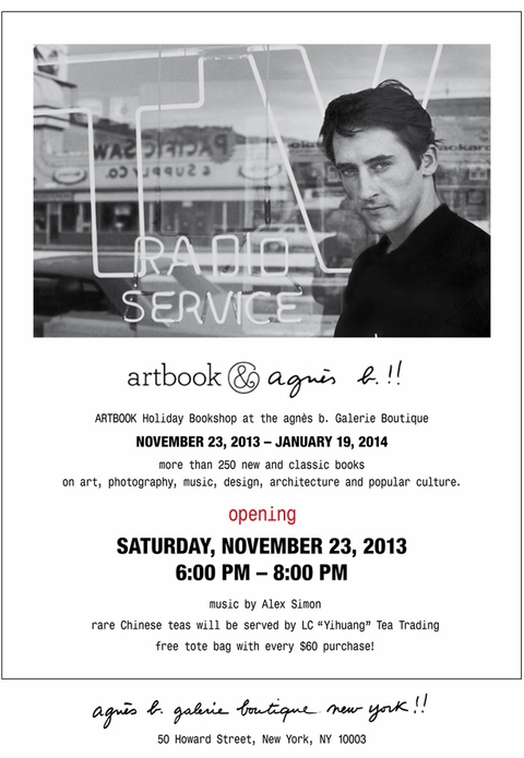 Visit the ARTBOOK Holiday Bookshop at the agnès b. Galerie Boutique NYC