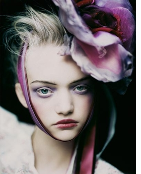 """Paolo Roversi's """"Gemma, Paris"""" (2003) is reproduced from <I>Vogue Like a Painting</I>."""