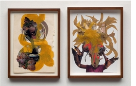 """The alluring and intricate collages of Kenyan-born, New York-based artist Wangechi Mutu (born 1972) draw the viewer into narratives of beauty, consumerism, colonialism, race, identity and gender politics.  <p>Featured image is Wangechi Mutu's <i>""""You can't fly""""</i>, from 2008, two watercolor and mixed media collages on paper.</i> Mutu's works on paper and videos are documented in <a href=""""http://www.artbook.com/9781894243643.html""""> Wangechi Mutu: This You Call Civilization?</a>, published by the Art Gallery of Ontario, Toronto."""