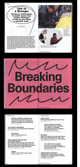 ABOVE: Spreads from 'Wicked Arts Assignments.'