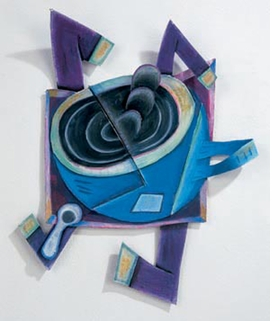 Featured image, of a work by Elizabeth Murray, is reproduced from 'Wild Life: Elizabeth Murray & Jessi Reaves.'
