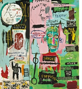 Featured image is reproduced from 'Writing the Future: Basquiat and the Hip-Hop Generation.'