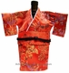 Silk Kimono Wine Bottle Holder - Red #37