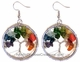 Tree of Life - Earrings - Semi Precious Stones (Pair) #63