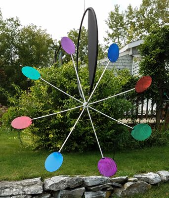 "LIMITED 24"" MULTI-COLOR HANGING GARDEN WHEEL"