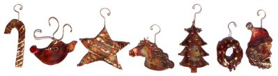 7 PIECE CHRISTMAS ORNAMENT SET