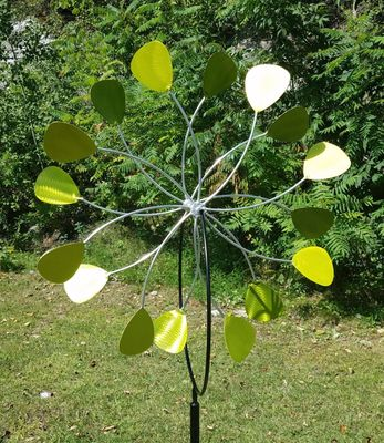 """""""CHARTREUSE""""<P>DOUBLE WHEEL """"GUITAR PICK"""" <P>IN-GROUND STAND"""