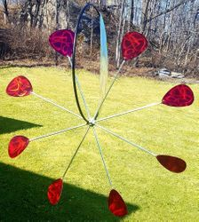 """GUITAR PICK"" HANGING GARDEN WHEEL<span style=""color:MAGENTA"">"