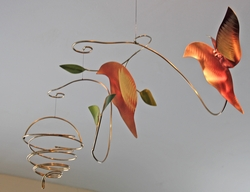 2 NESTING BIRDS Hanging Mobile
