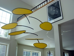 CASA FAN YELLOW Hanging Mobile