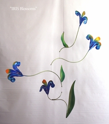 IRIS FLOWERS Hand-Painted Mobile