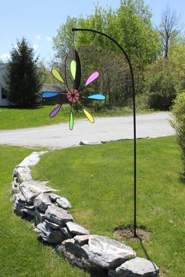 6.5 FOOT IN-GROUND STAND. (ORDER COLOR WHEELS & DAISY WHEELS SEPARATELY)