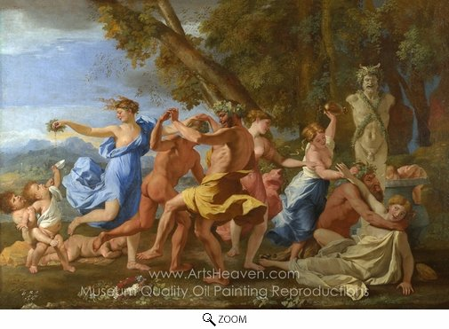 Nicolas Poussin, A Bacchanalian Revel Before a Term oil painting reproduction