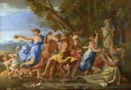 A Bacchanalian Revel Before a Term painting reproduction, Nicolas Poussin