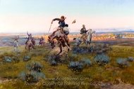A Bad One painting reproduction, Charles Marion Russell