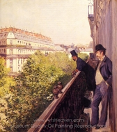 A Balcony painting reproduction, Gustave Caillebotte