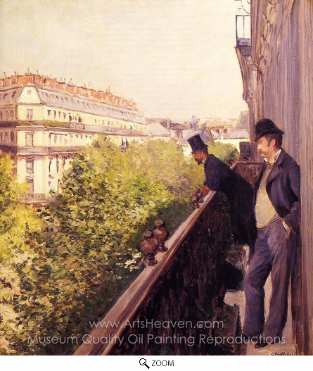 Gustave Caillebotte, A Balcony oil painting reproduction