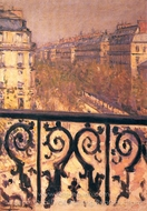A Balcony in Paris painting reproduction, Gustave Caillebotte