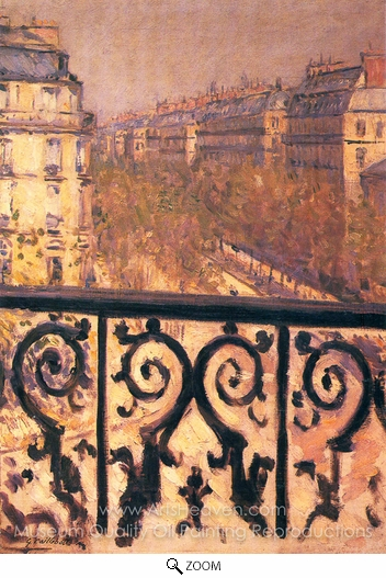 Gustave Caillebotte, A Balcony in Paris oil painting reproduction