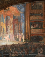 A Ballet at the Alhambra painting reproduction, Spencer Frederick Gore