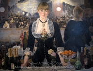 A Bar at the Folies-Bergere painting reproduction, Édouard Manet