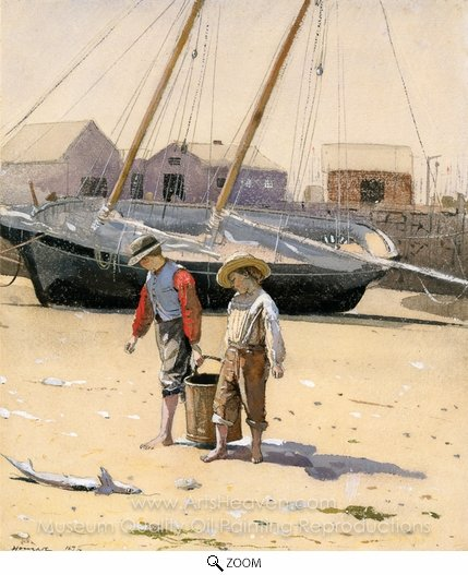 Winslow Homer, A Basket of Clams oil painting reproduction