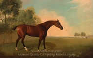 A Bay Horse in a Field painting reproduction, John Boultbee