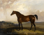 A Bay Horse in a Landscape painting reproduction, Sawrey Gilpin
