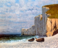 A Bay with Cliffs painting reproduction, Gustave Courbet