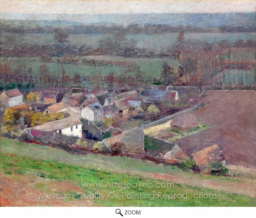 Theodore Robinson, A Bird's-Eye View oil painting reproduction