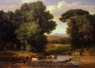 A Bit of Roman Aqueduct painting reproduction, George Inness