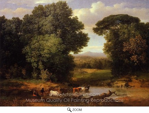 George Inness, A Bit of Roman Aqueduct oil painting reproduction